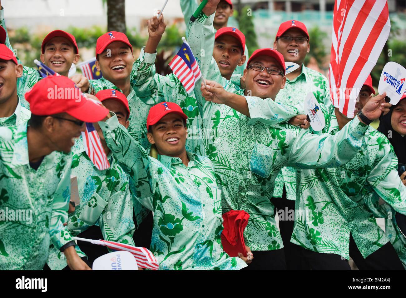 Independence Day celebrations, Kuala Lumpur, Malaysia, Southeast Asia - Stock Image