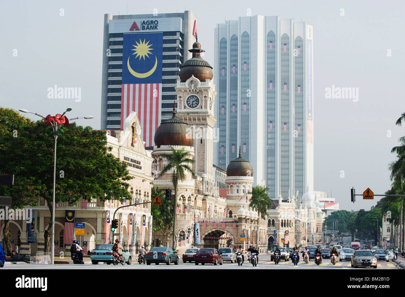 Sultan Abdul Samad Building and Dayabumi complex, Merdeka Square, Kuala Lumpur, Malaysia, Southeast Asia - Stock Image