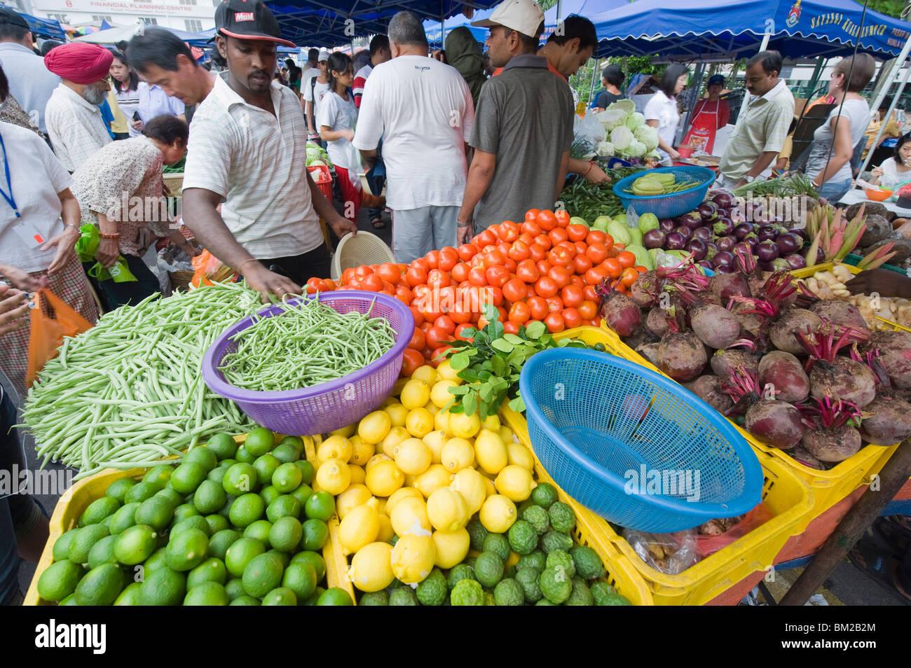 Bangsar Sunday market, Kuala Lumpur, Malaysia, Southeast Asia - Stock Image