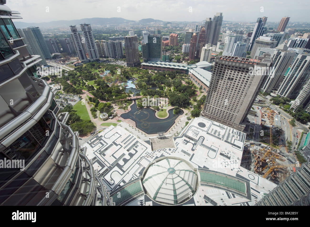 View from Petronas Towers skybridge, Kuala Lumpur, Malaysia, Southeast Asia - Stock Image