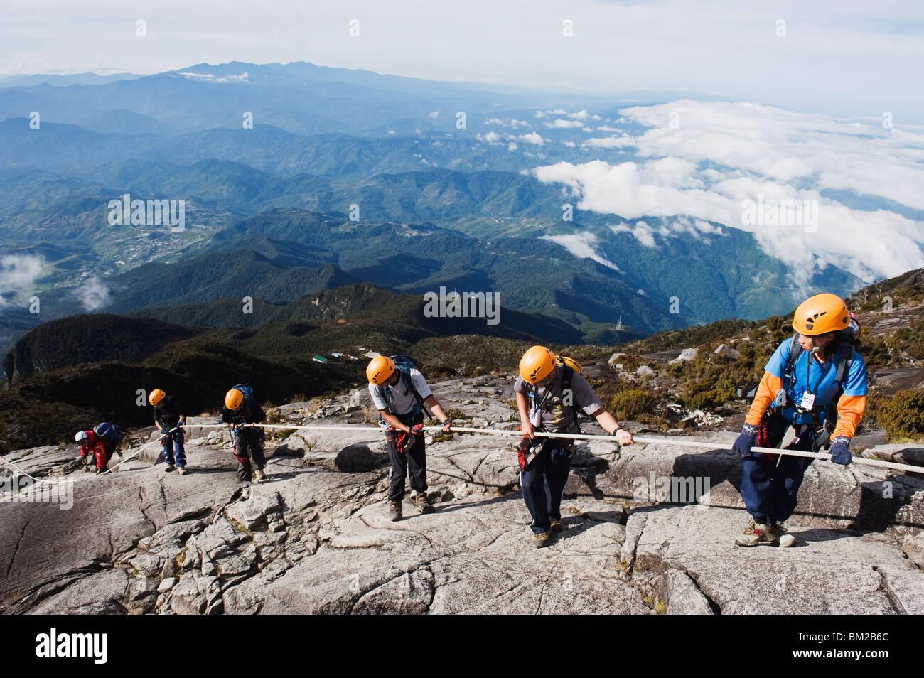 Via ferrata, Kinabalu National Park, Malaysia's highest mountain 4095m, Sabah, Borneo, Malaysia, Southeast Asia - Stock Image
