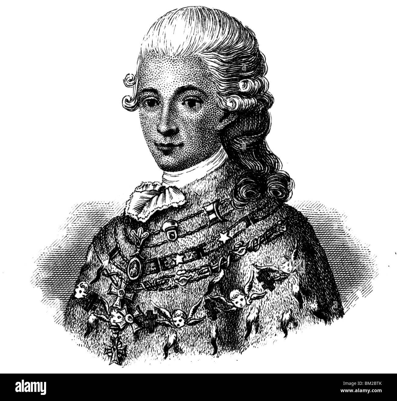Gustav III of Sweden - Stock Image