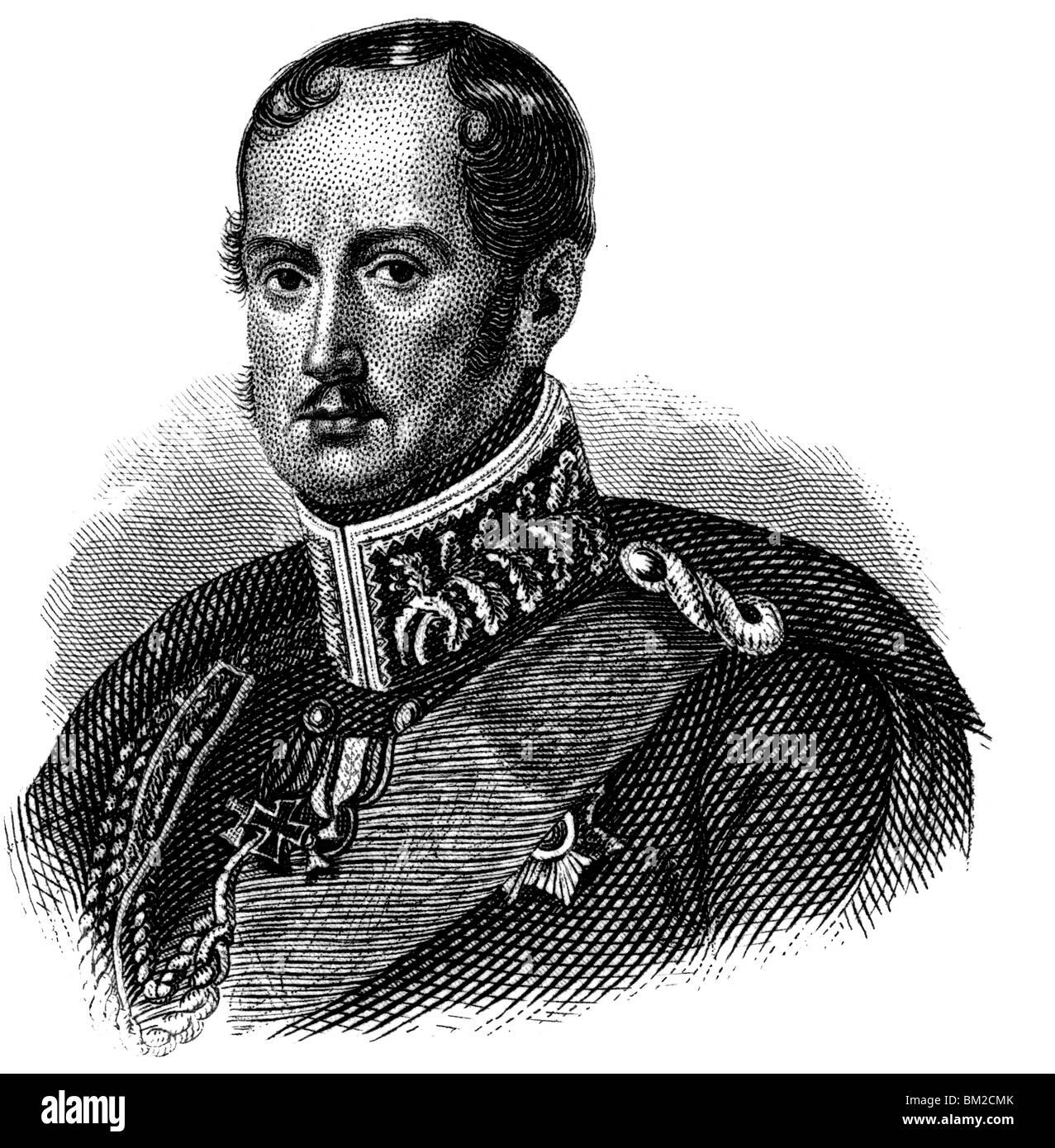 Frederick William III of Prussia - Stock Image