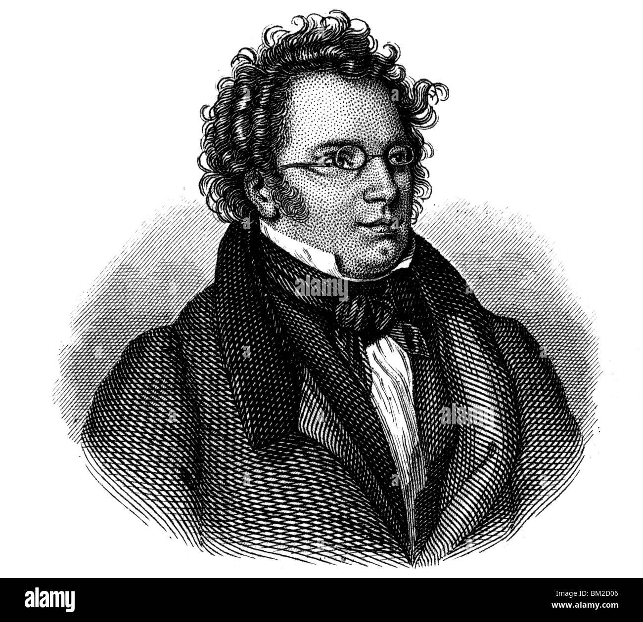 Franz Schubert Stock Photo