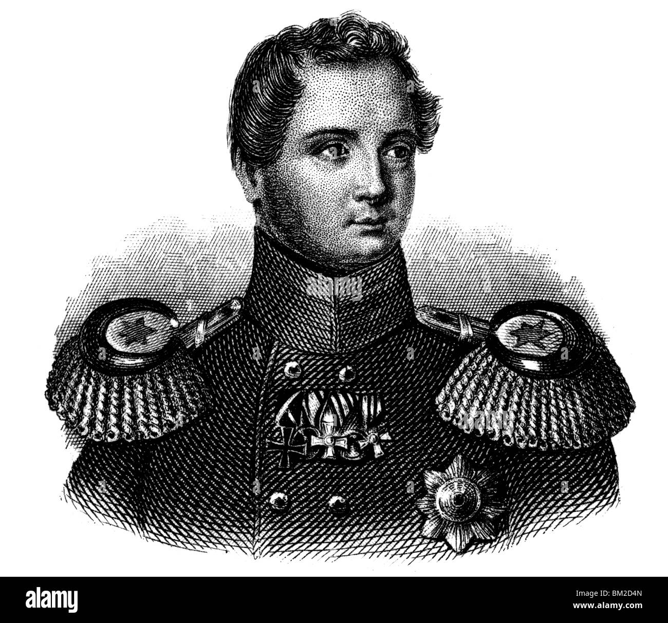 Frederick William IV of Prussia Stock Photo