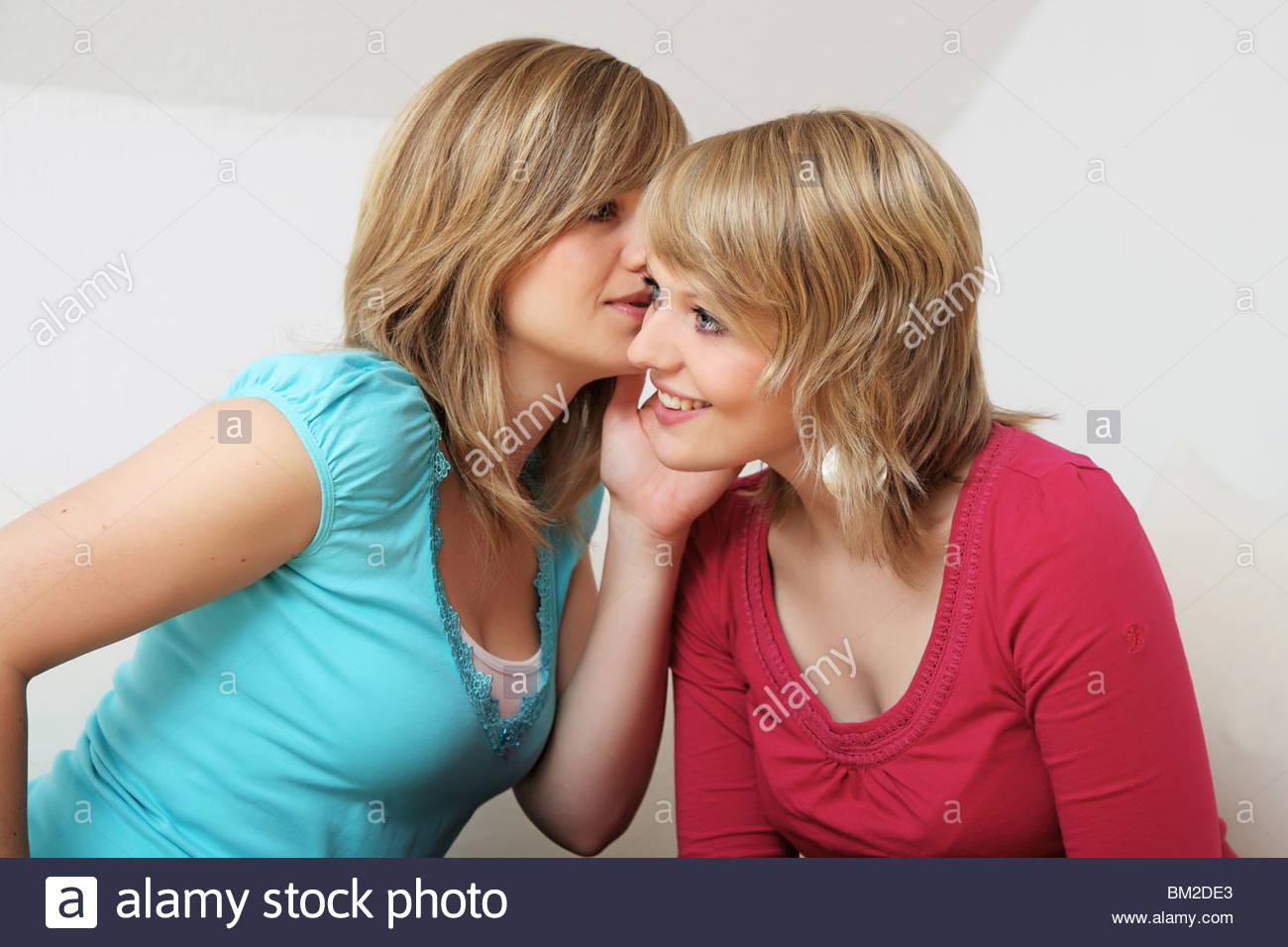 girlfriends talking Stock Photo