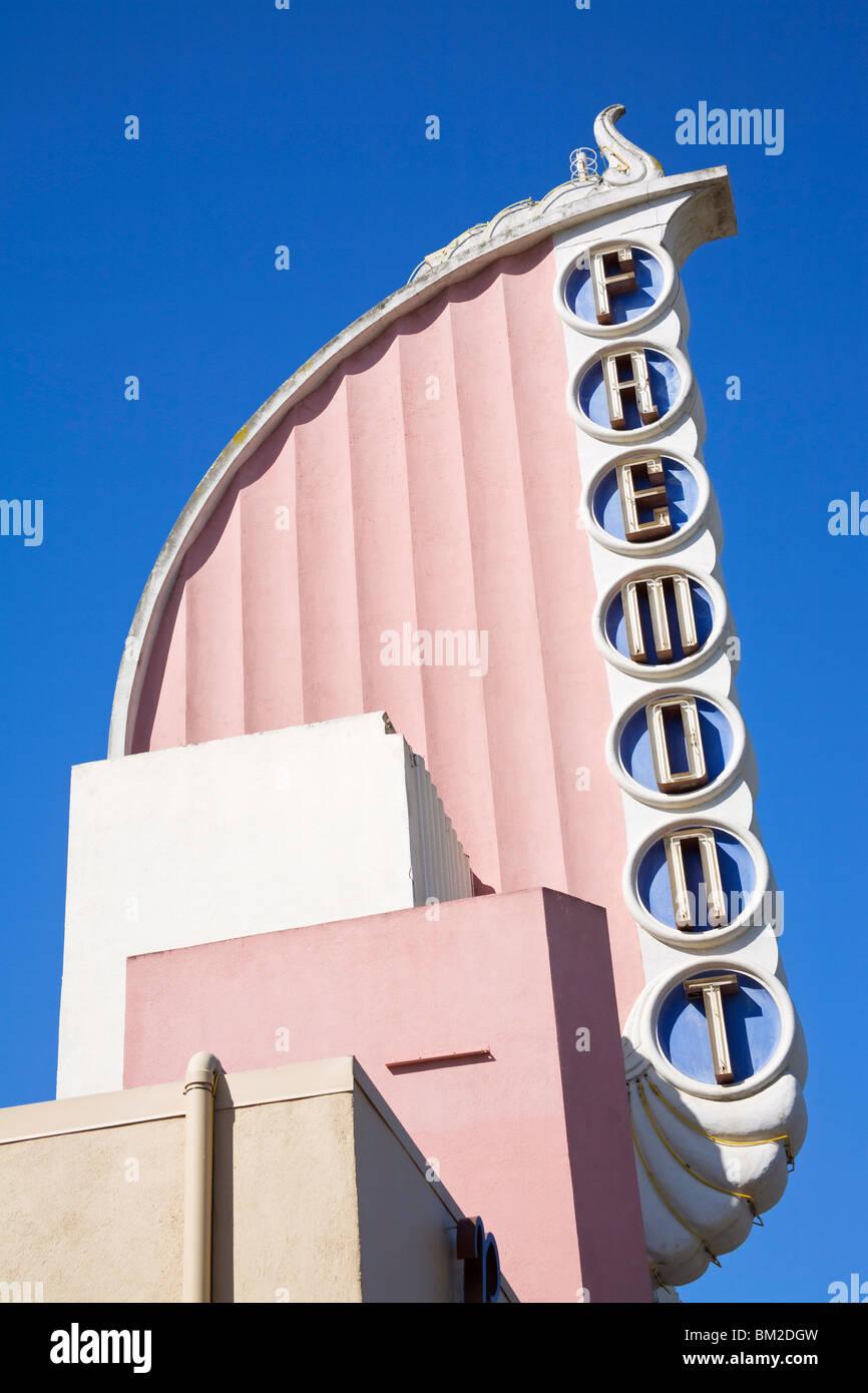 Fremont Art Deco Movie Theater, Monterey Street, San Luis Obispo, California, USA Stock Photo