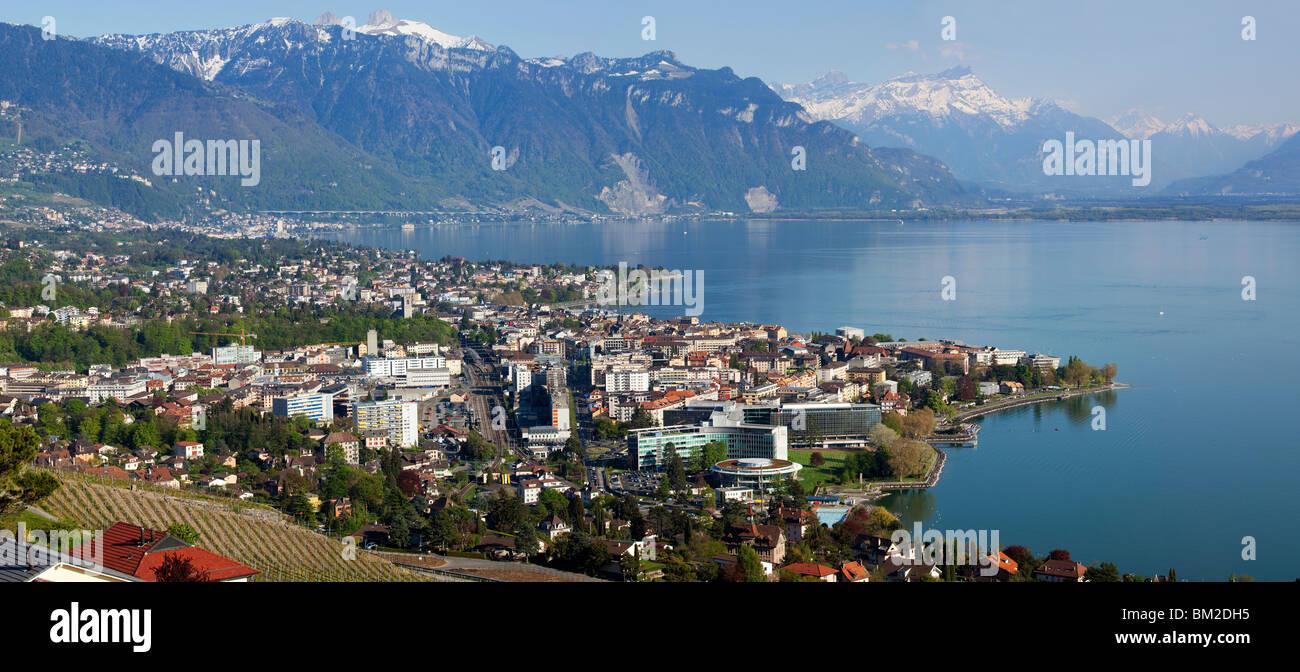 The City of Vevey, Switzerland Stock Photo
