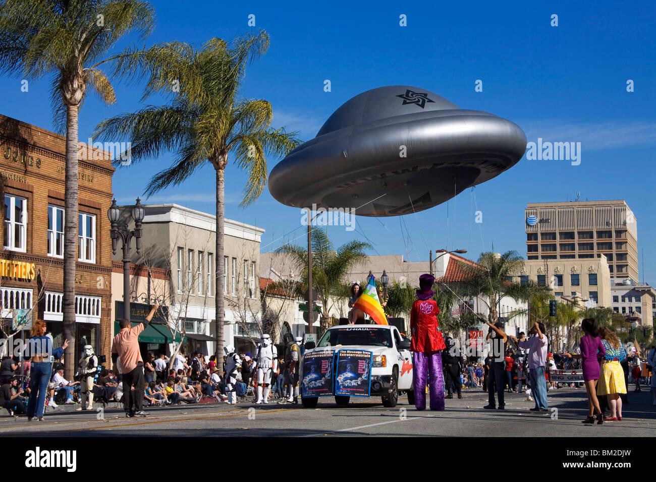 Spaceship, Doo Dah Parade, Pasadena, Los Angeles, California, USA - Stock Image