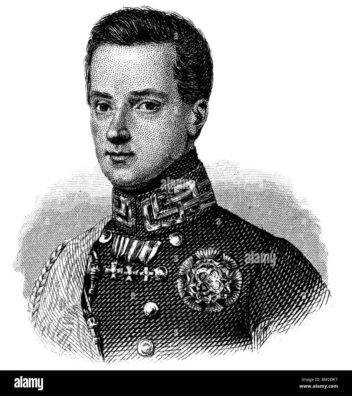 Charles Albert of Sardinia Stock Photo