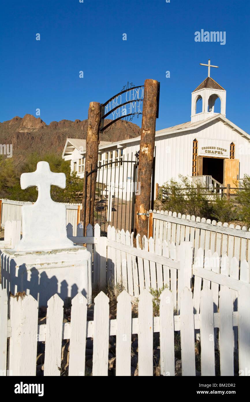 Cemetery, Old Tucson Studios, Tucson, Arizona, USA - Stock Image