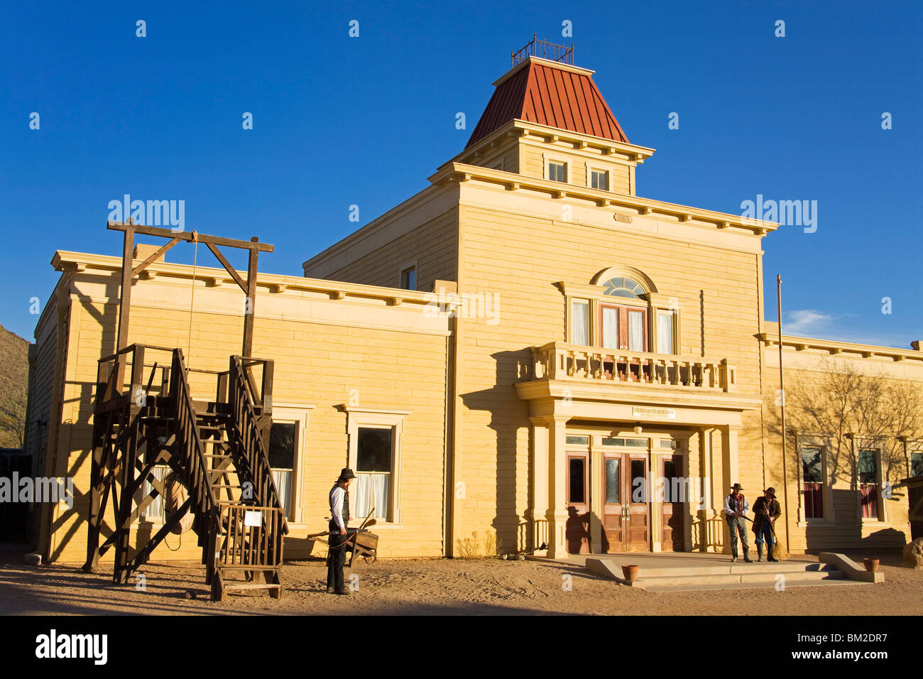 Lincoln County Courthouse in Old Tucson Studios, Tucson, Arizona, USA - Stock Image