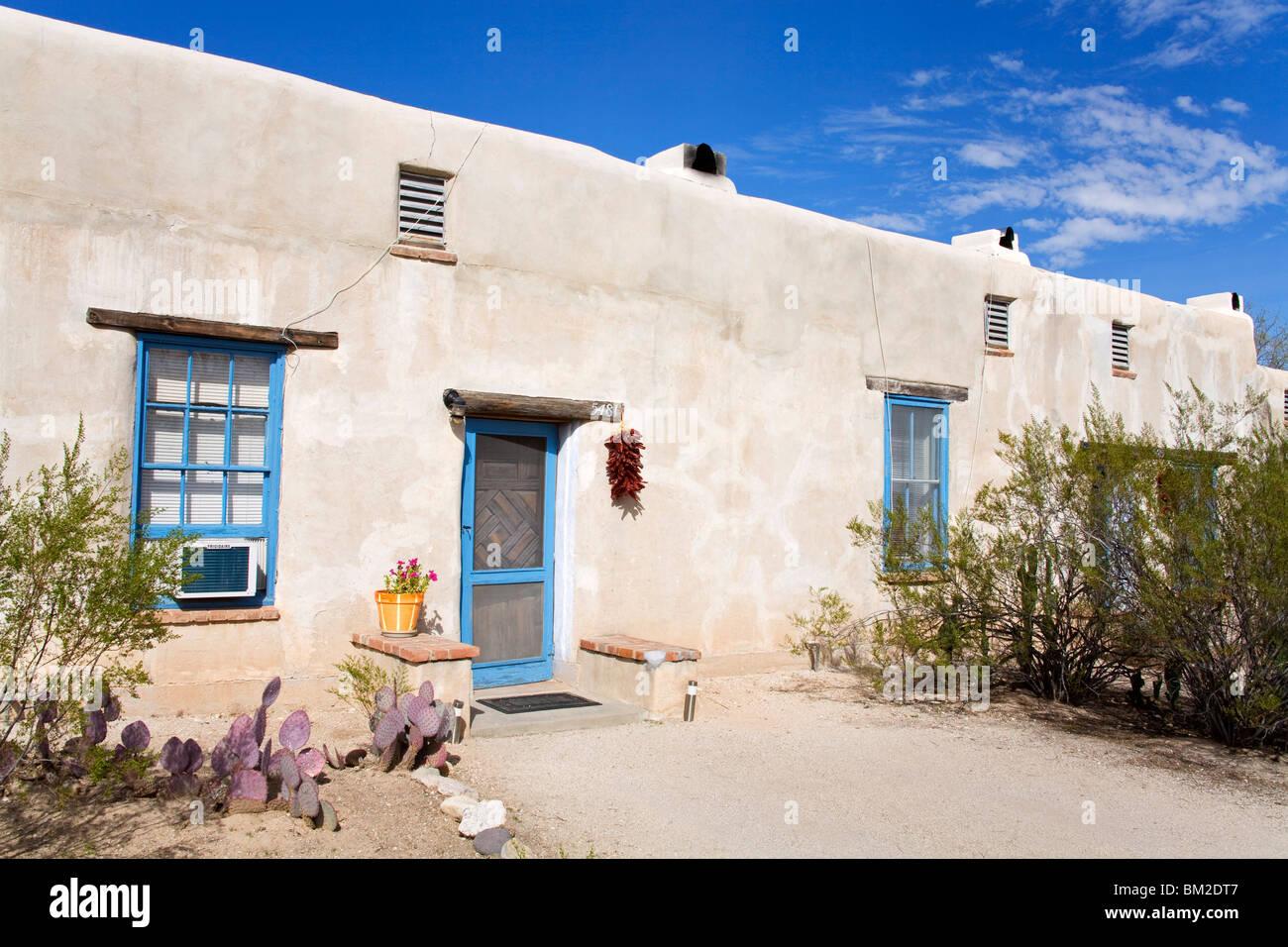 Adobe House, Fort Lowell Historic District, Tucson, Arizona, USA - Stock Image