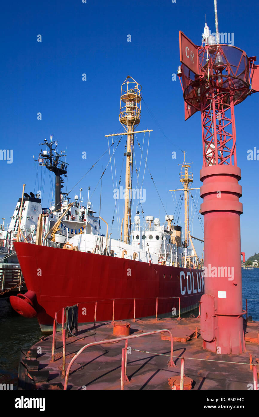 Lightship at the Columbia River Maritime Museum in Astoria, Oregon, USA - Stock Image