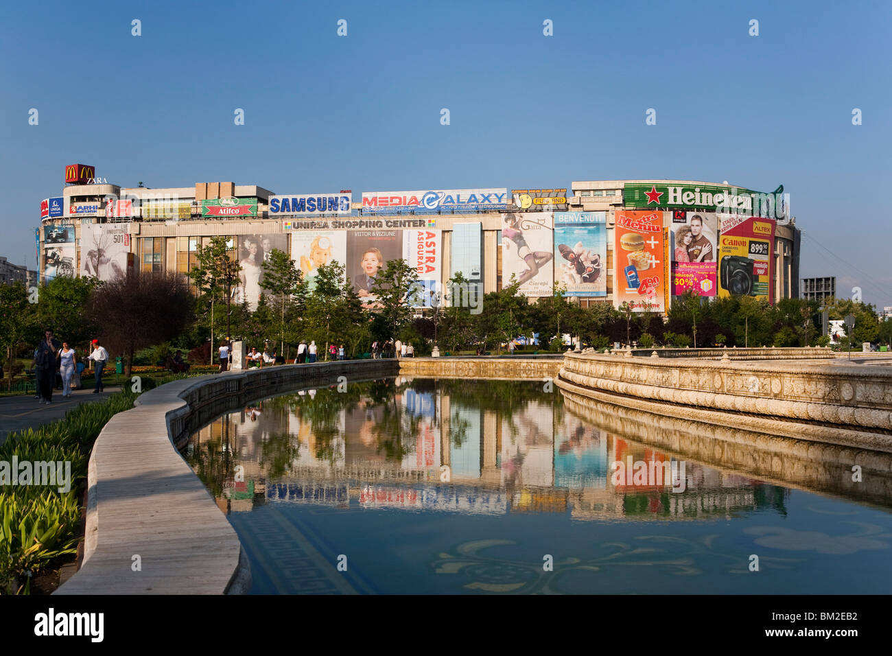 Unirii square, Bucharest, Romania - Stock Image