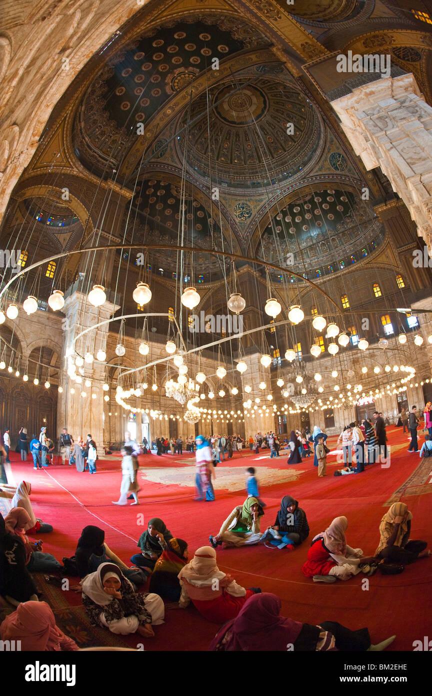 Mosque of Muhammad Ali Pasha (Alabaster Mosque), The Citadel, Cairo, Egypt - Stock Image
