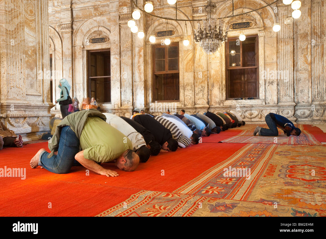Mosque of Muhammad Ali Pasha (Alabaster Mosque), The Citadel, Cairo, Egypt - Stock Image