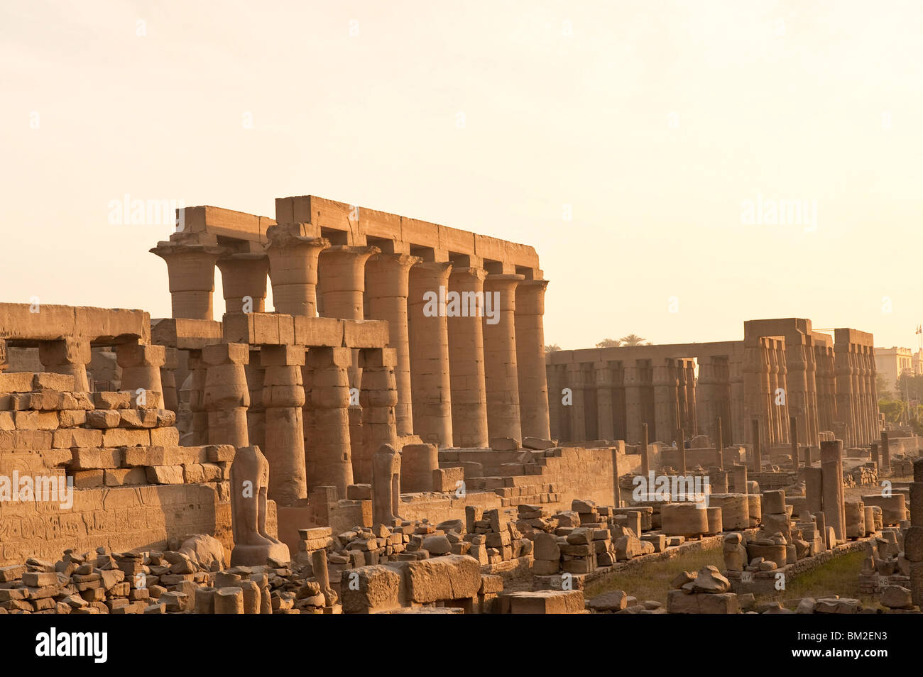 Luxor Temple, Luxor, Thebes, UNESCO World Heritage Site, Egypt - Stock Image