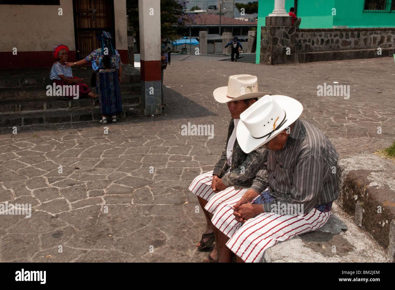 Santiago Atitlan, Lake Atitlan, Guatemala. - Stock Image