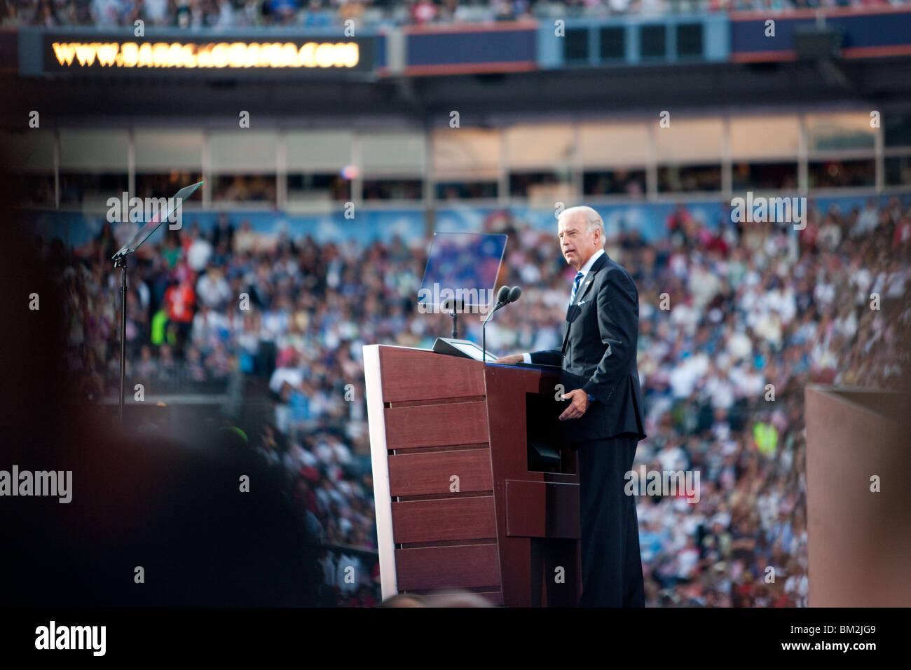 Joe Biden Speech at Invesco - Stock Image