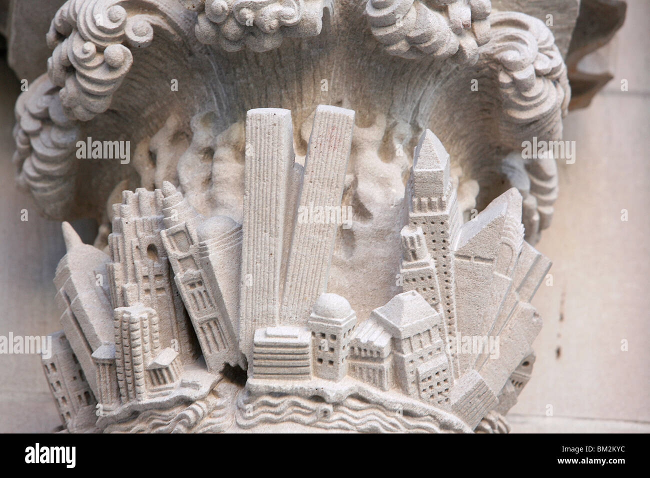 Apocalypse of the Twin Towers, St. John the Divine cathedral, New York, USA - Stock Image