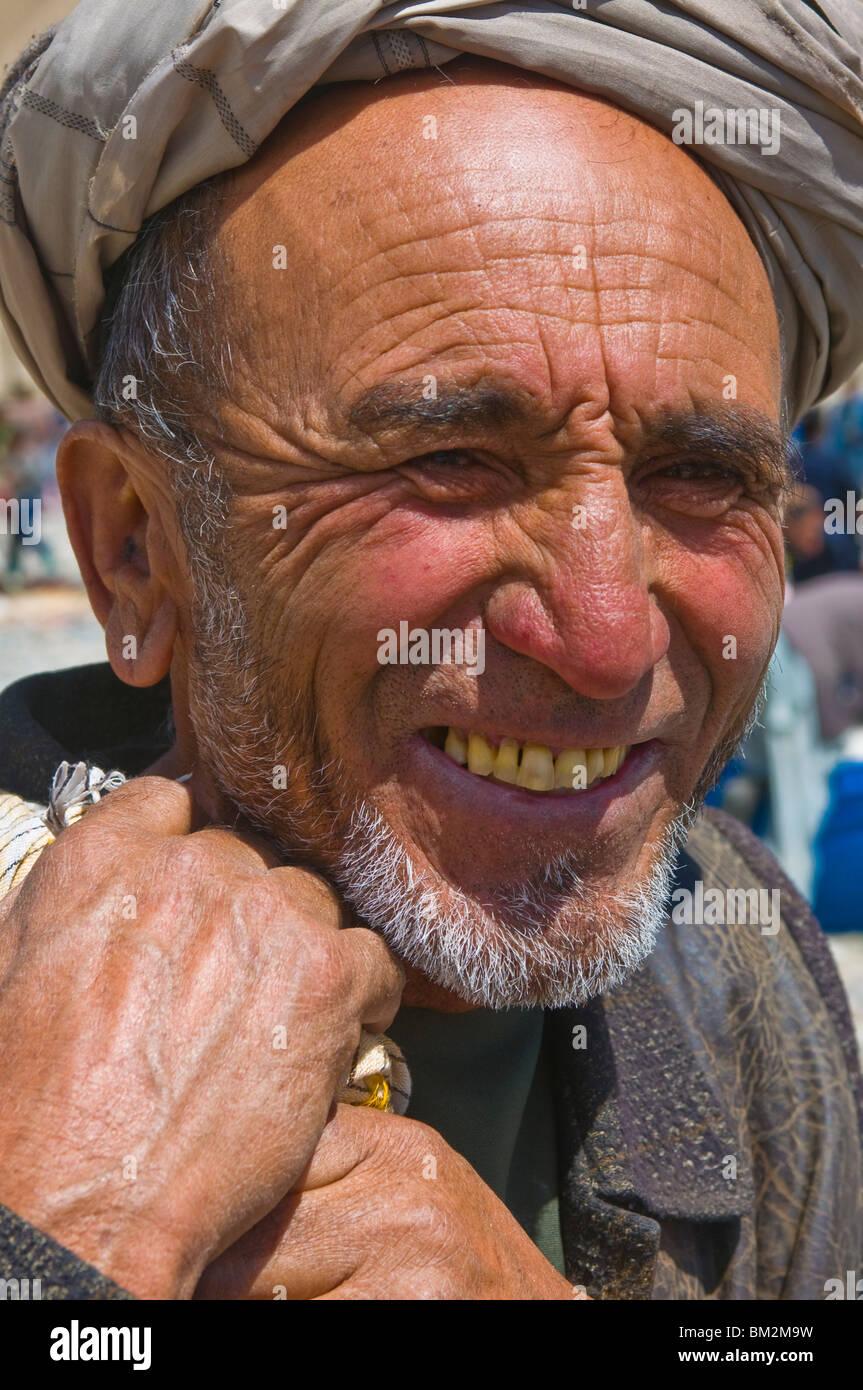 Portrait of an Afghan man, Wakhan Corridor, Afghanistan - Stock Image