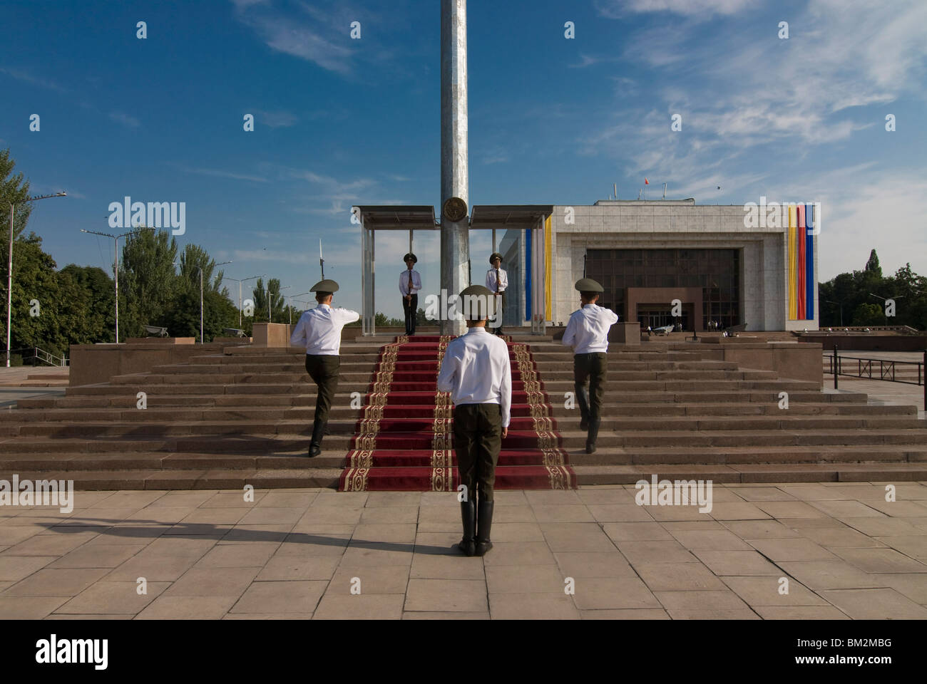 Soldiers at Ala-Too Square, Bishkek, Kyrgyzstan - Stock Image