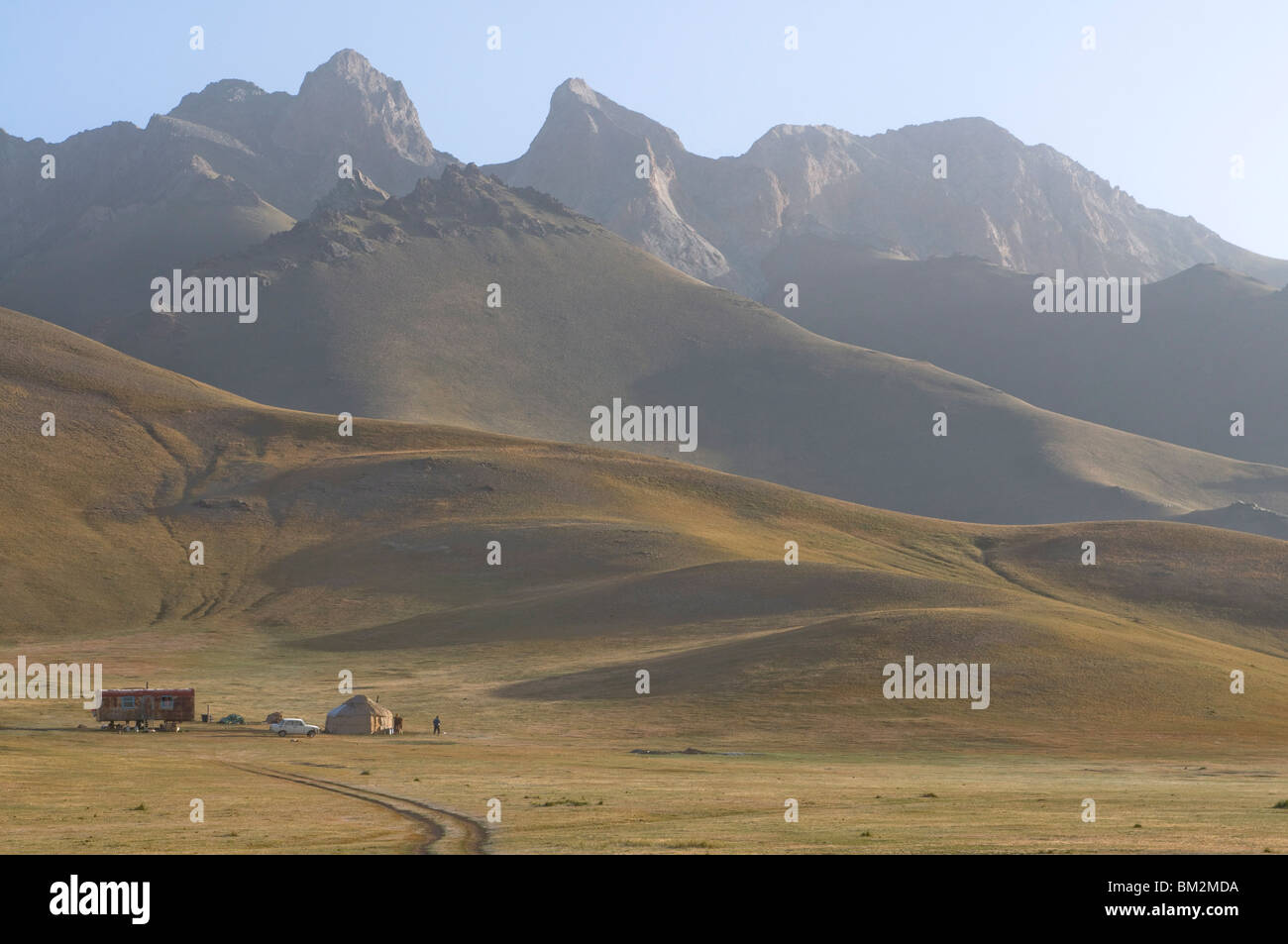 Mountains near Sary Tash, Kyrgyzstan - Stock Image
