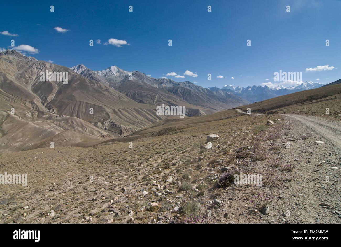 Mountain landscape of the Hindu Kush, Wakhan corridor, Afghanistan - Stock Image