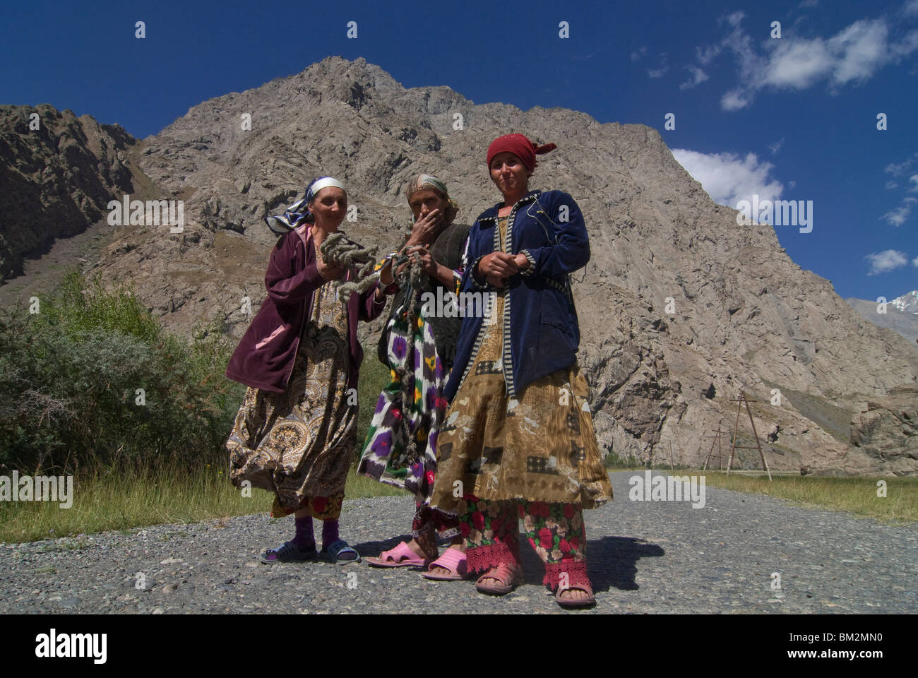 Field path leading to Dushanbe, Bartang Valley, Tajikistan - Stock Image