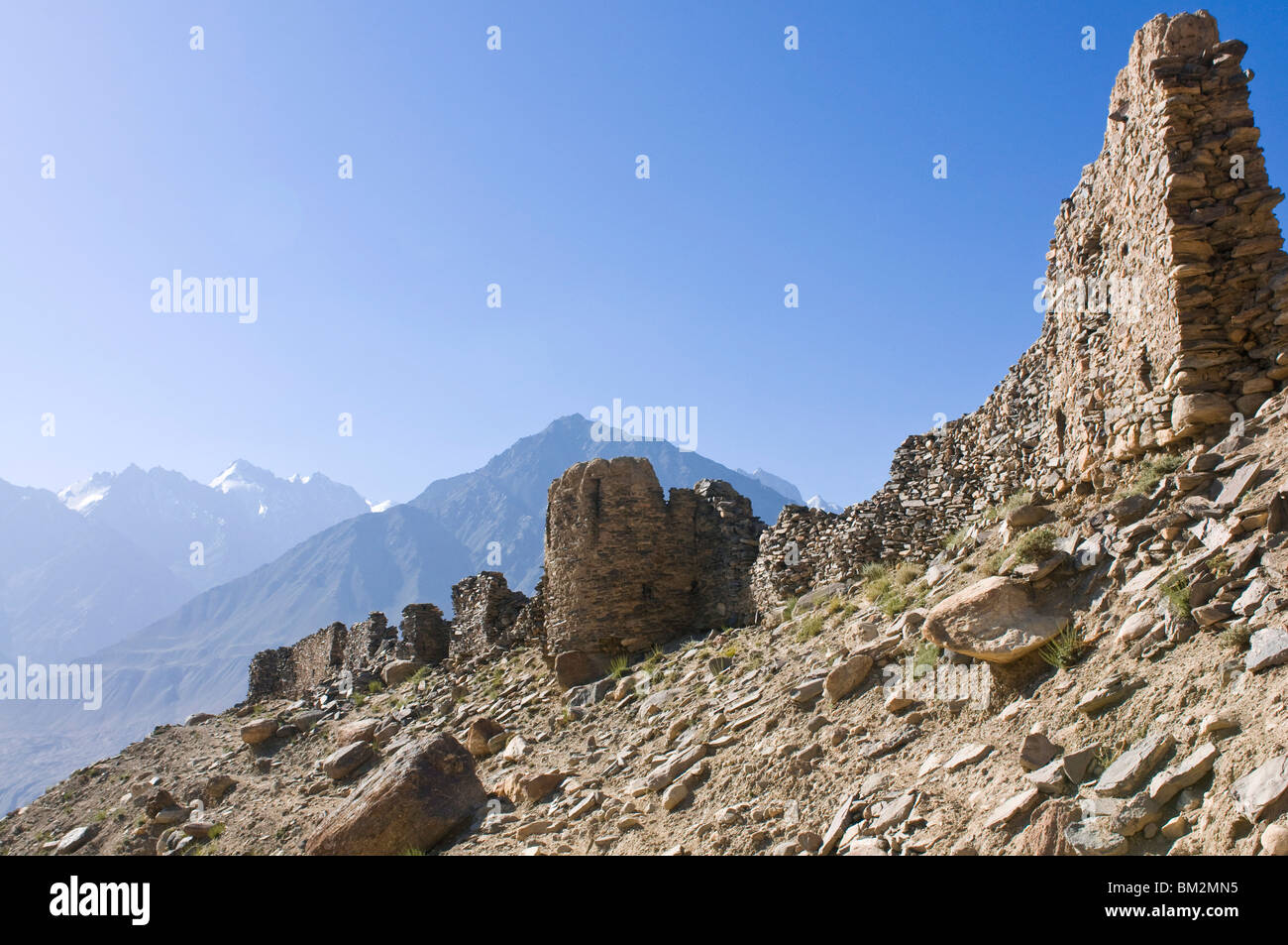Yamchun fortress, Yamchun, Wakhan Valley, The Pamirs, Tajikistan - Stock Image