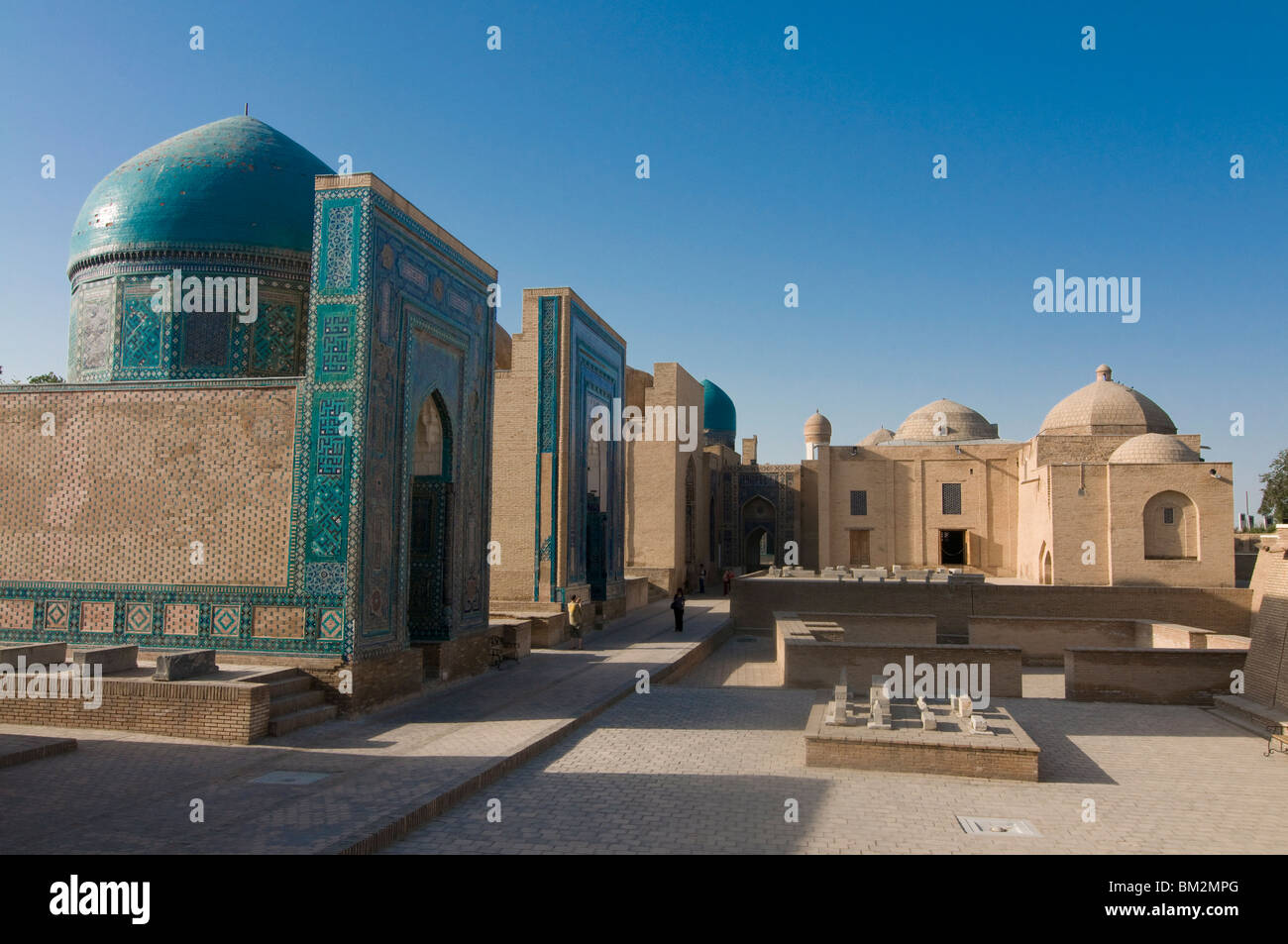 Burial place, Shahr-i-Zindah shrines, UNESCO World Heritage Site, Samarkand, Uzbekistan - Stock Image