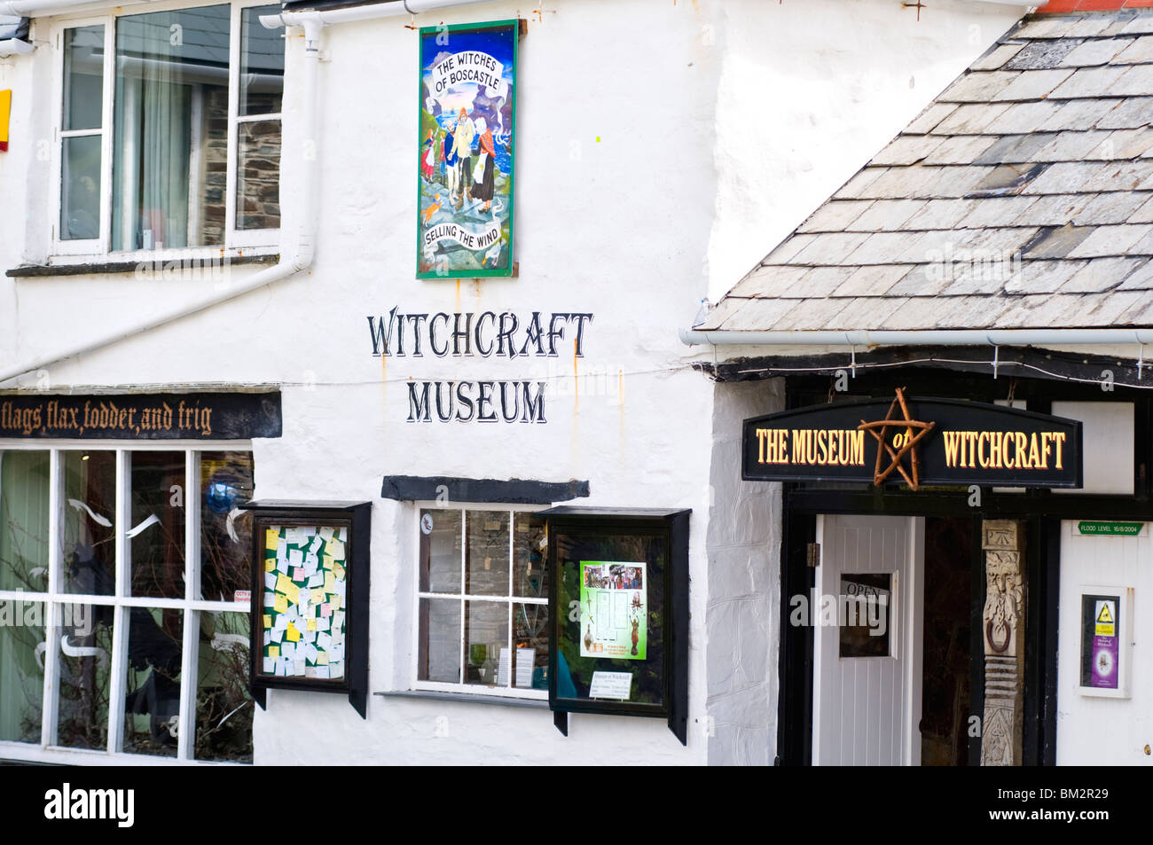 Exterior of the Museum of Witchcraft in the village of Boscastle, Cornwall, England, UK - Stock Image