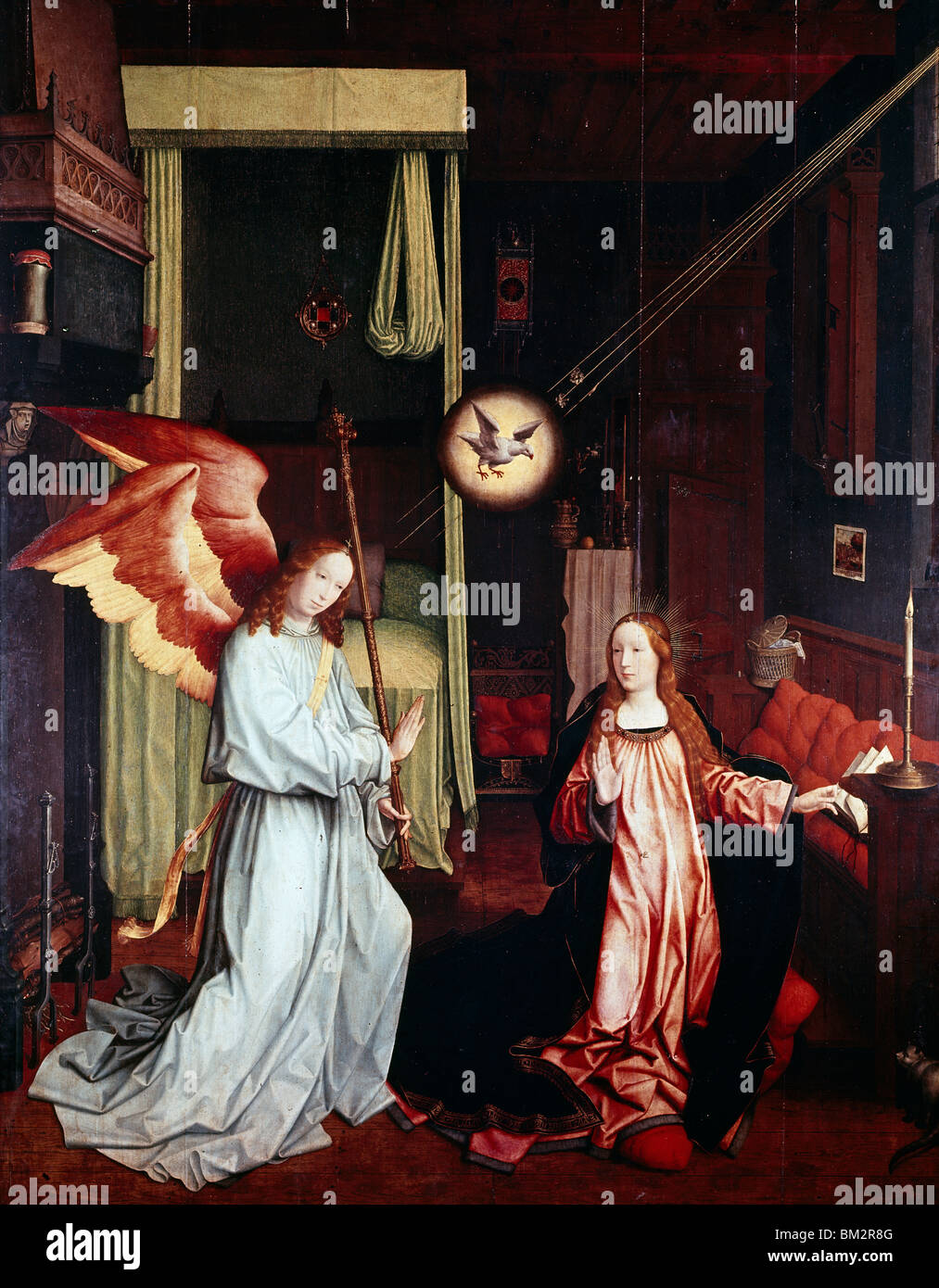 The Annunciation by Jan Provost the Younger, (1465-1529) - Stock Image