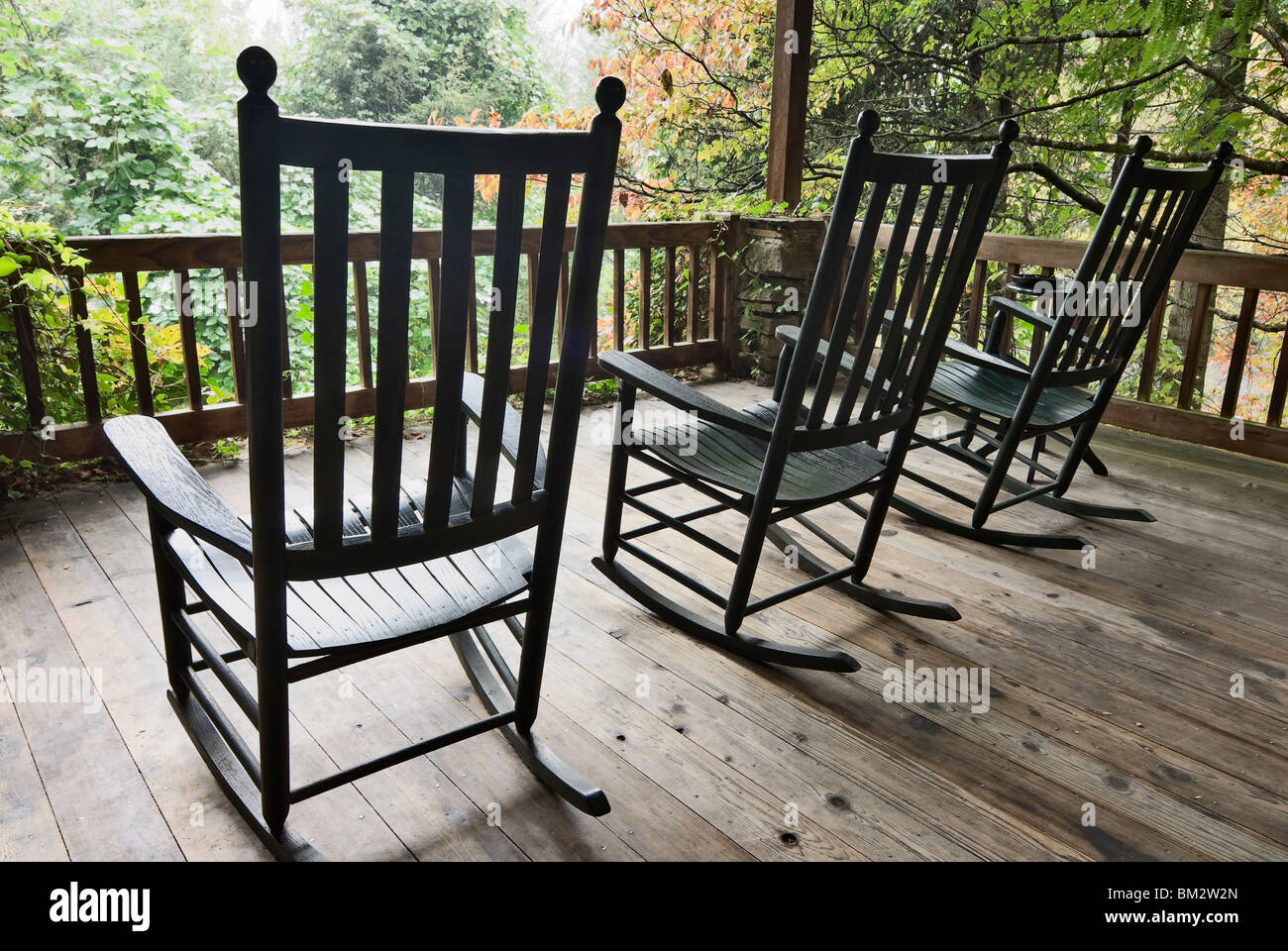Rocking Chairs On Porch, North Carolina, USA