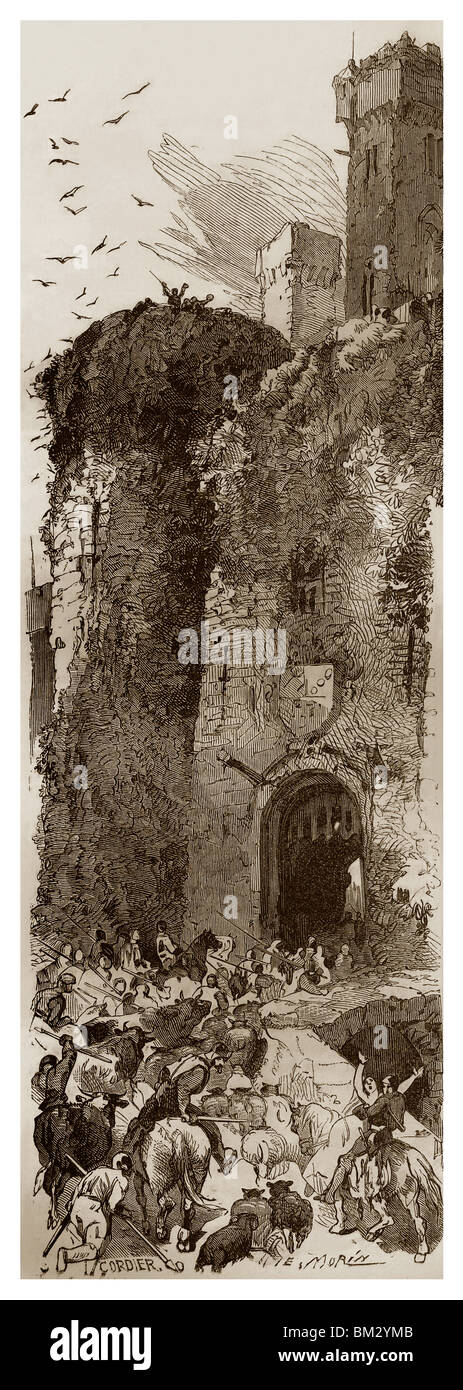 Feudal France in the 10th century. - Histoire Populaire de la France, Tome Premier, Ch. Lahure's Publication, - Stock Image