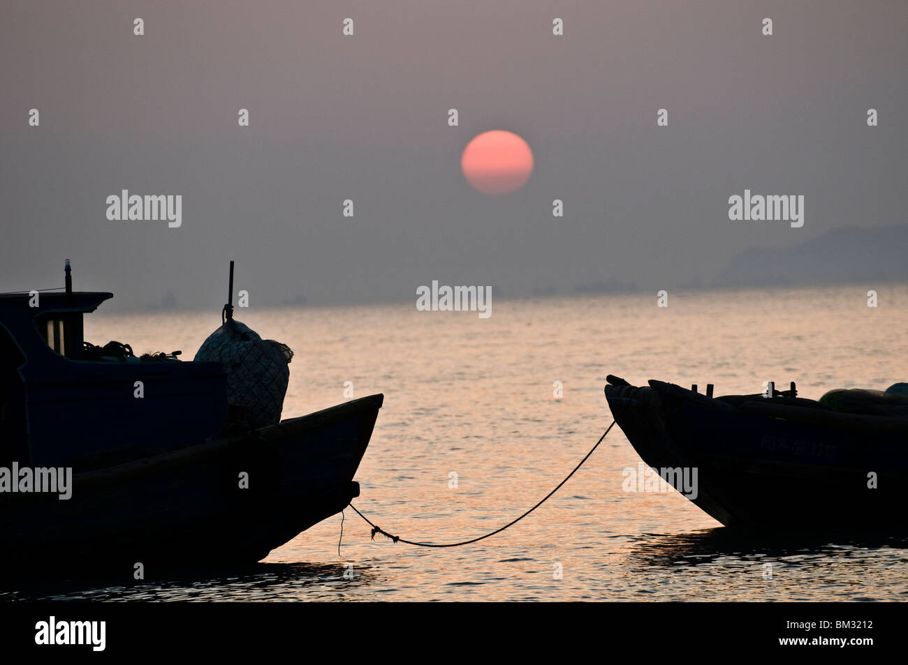 Sunset over the south China sea. - Stock Image