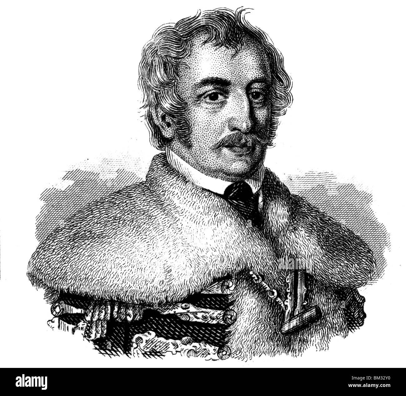 Count Joseph Teleki of Szék Stock Photo