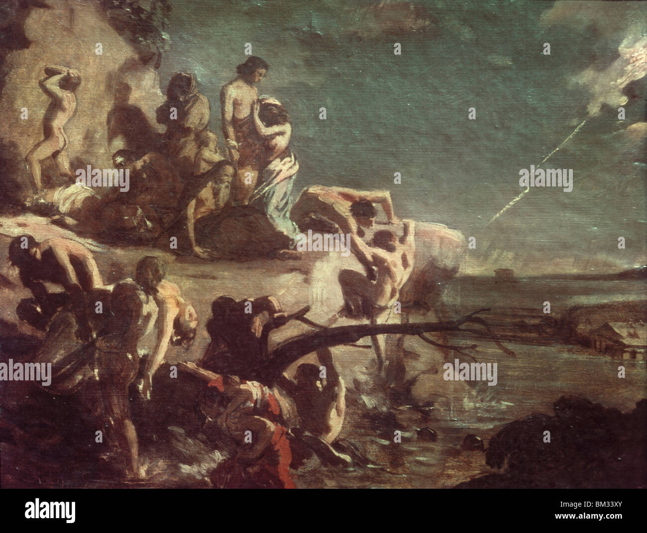 The Deluge by Theodore Gericault, (1791-1824) - Stock Image