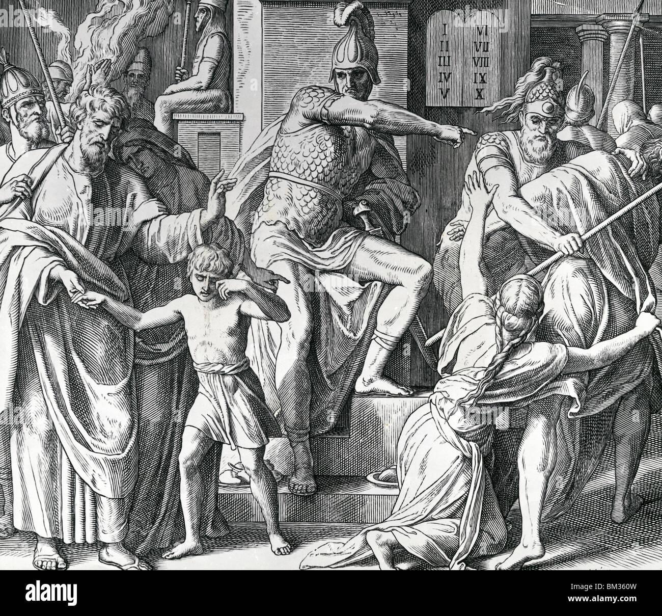 Antiochus Persecution of Israelites by Julius Schnorr von Carolsfeld, illustration, (1794-1872) - Stock Image