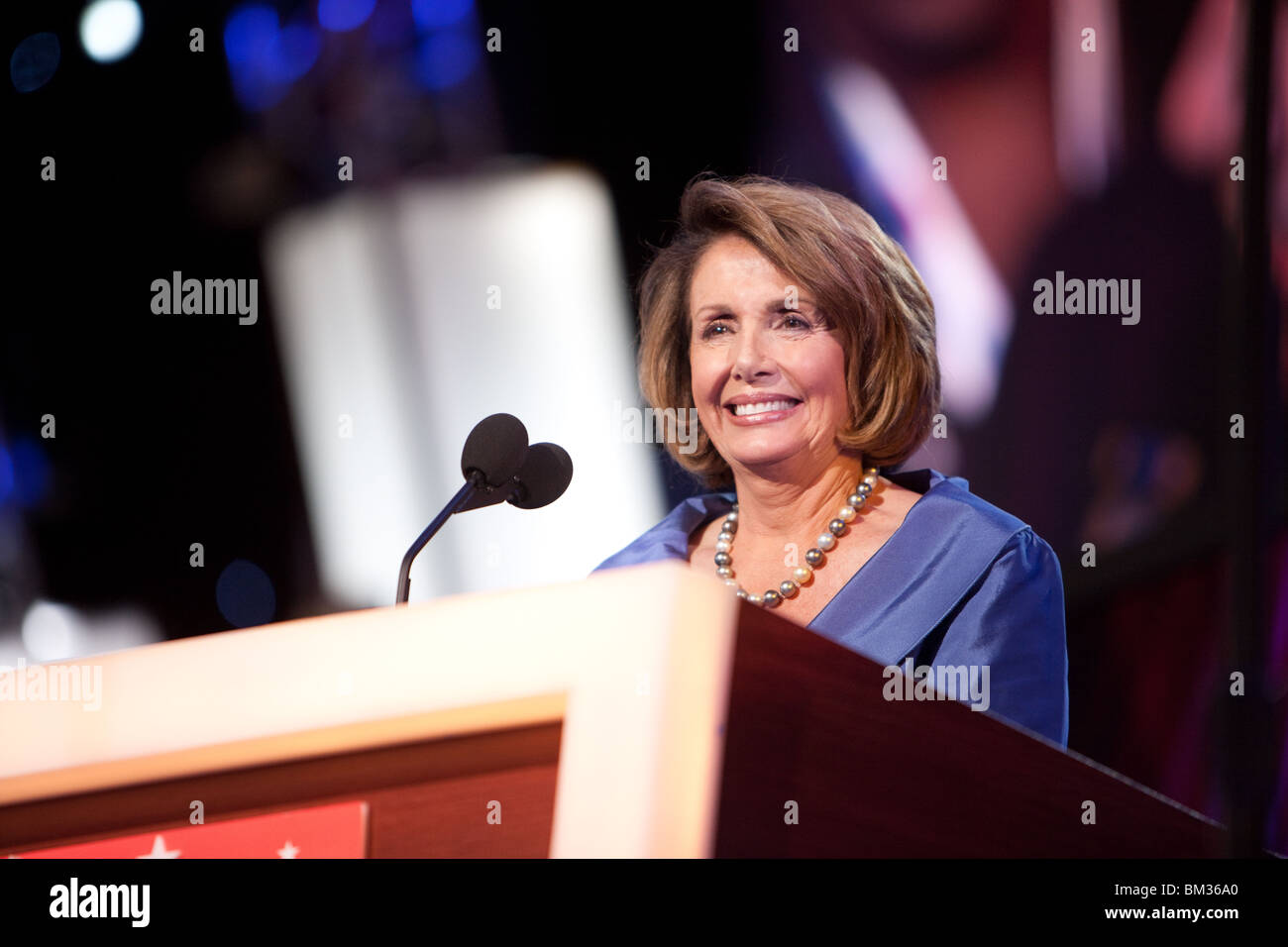 Nancy Pelosi Keynote - Stock Image