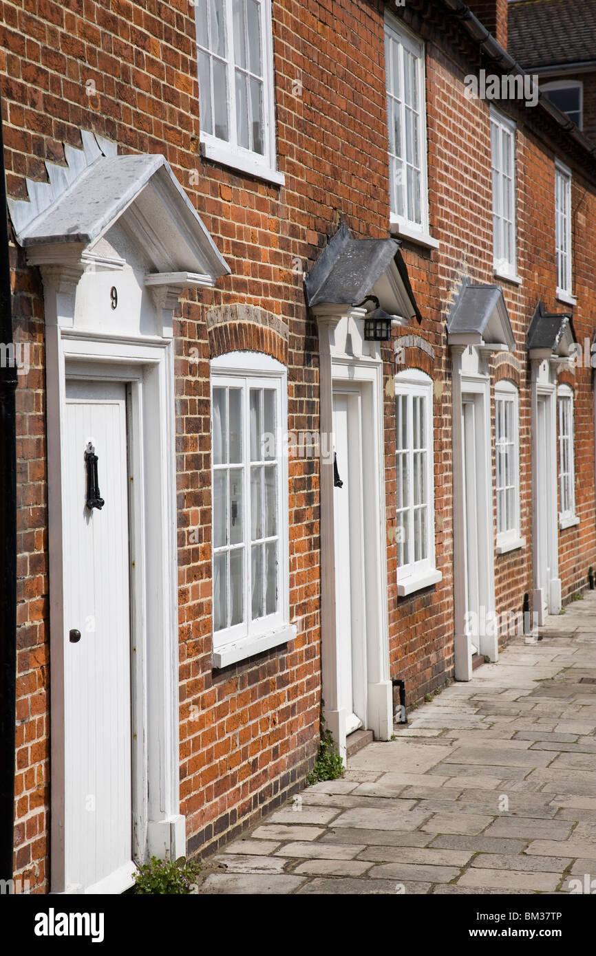 A row of terraced Geoargian houses, Chichester, West Sussex, England. Stock Photo