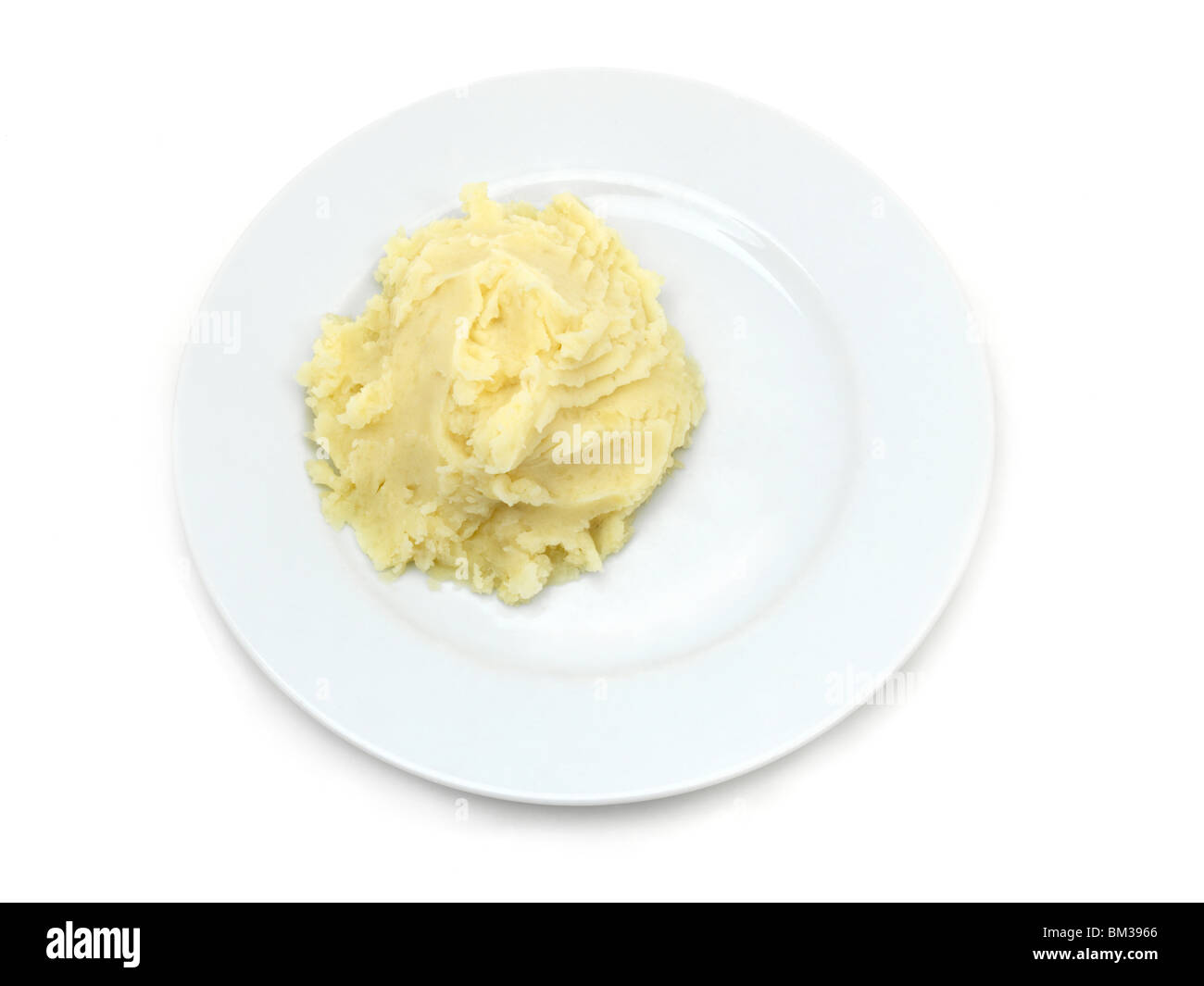 Plate Of Mashed Potato - Stock Image