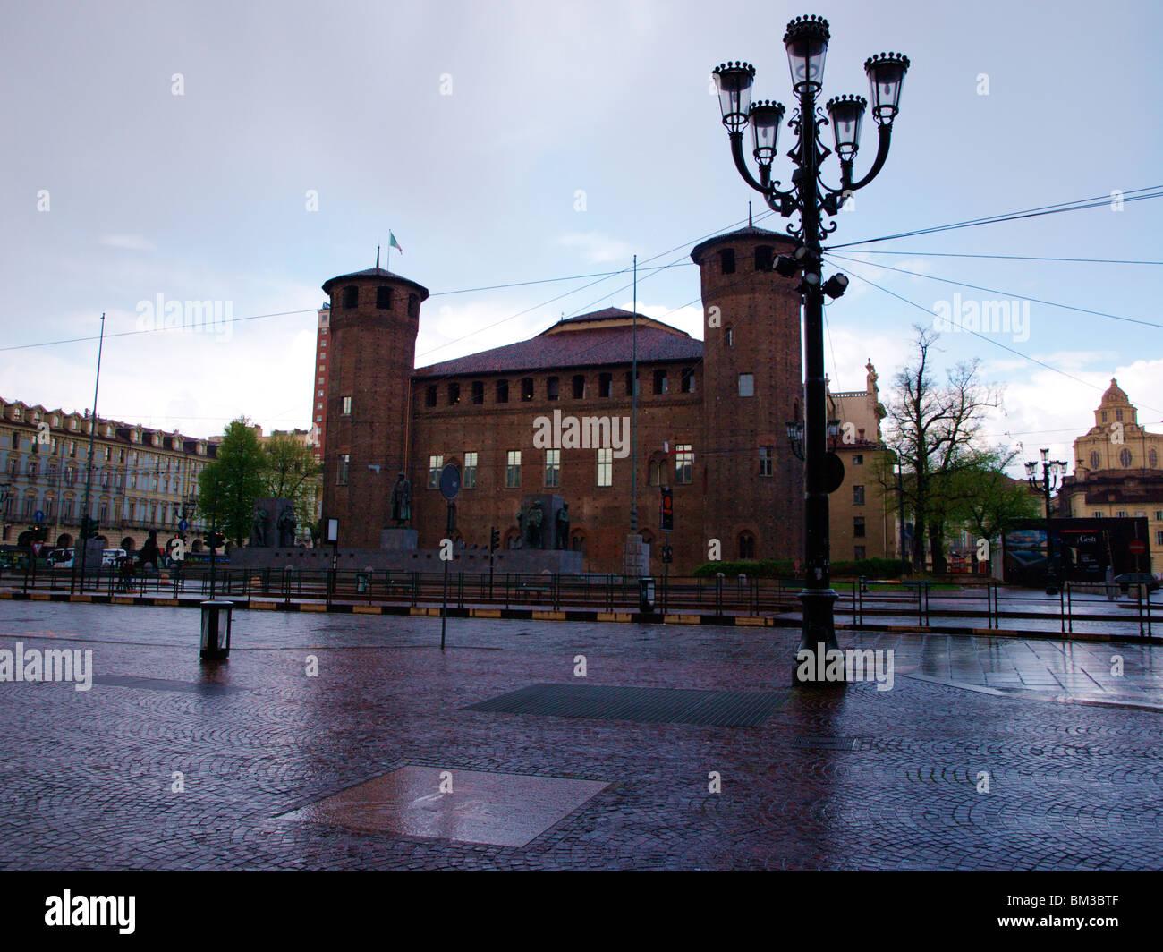 piazza castello,Turin,piedmont,italy - Stock Image
