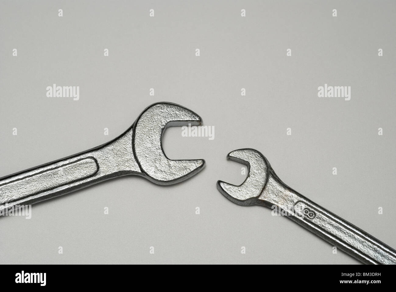 opposite wrenches - Stock Image