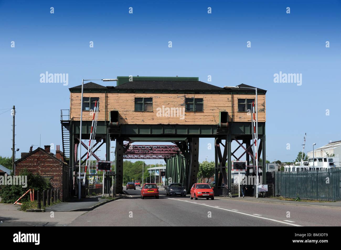 Duke Street Bridge at Birkenhead Merseyside CH41 1LG - Stock Image