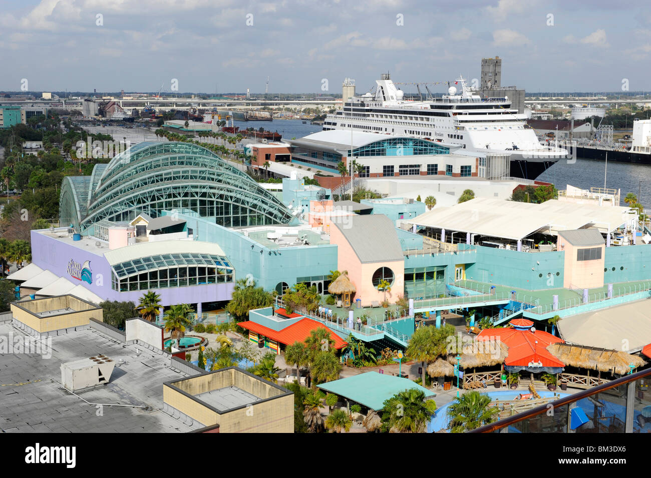 tampa bay florida aquarium downtown with cruise ship in background stock photo alamy https www alamy com stock photo tampa bay florida aquarium downtown with cruise ship in background 29580270 html