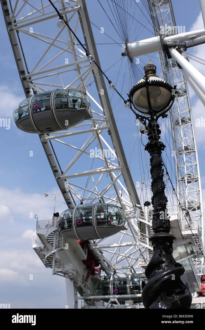 Closeup London Eye Stock Photo