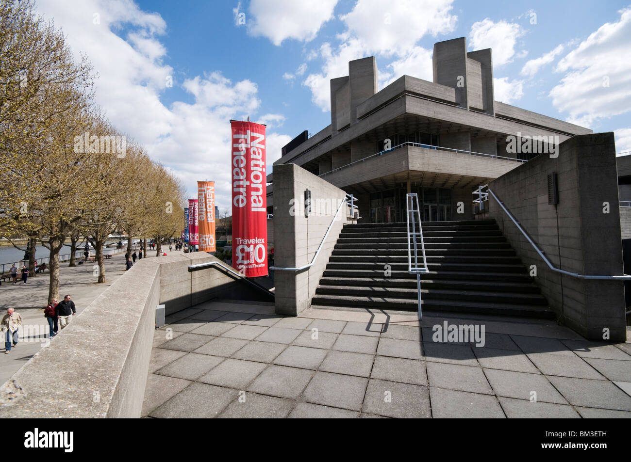 The Royal National Theatre, South Bank, London, England - Stock Image