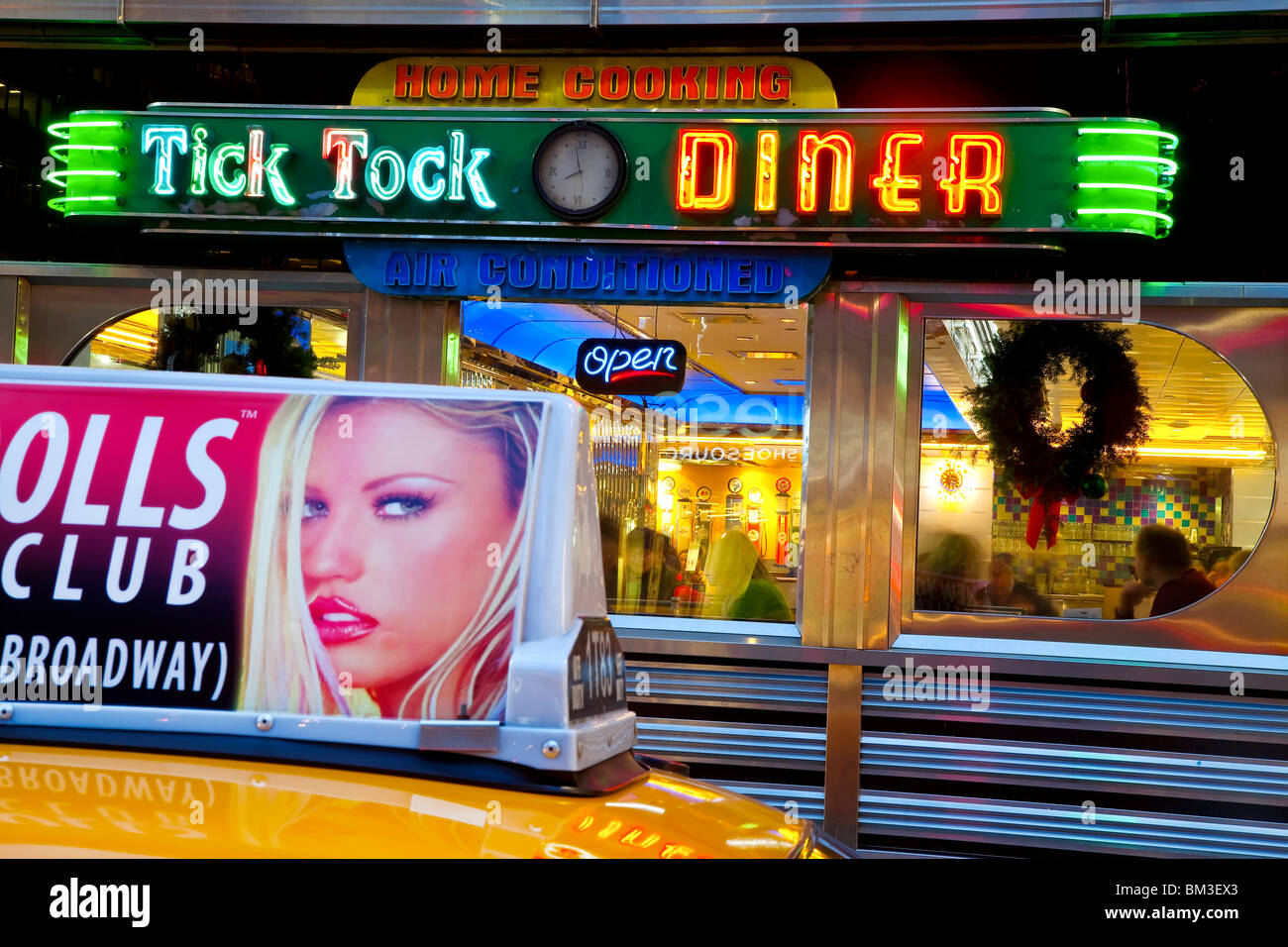 United States of America, New York, New York City, Diner in Midtown Manhattan - Stock Image